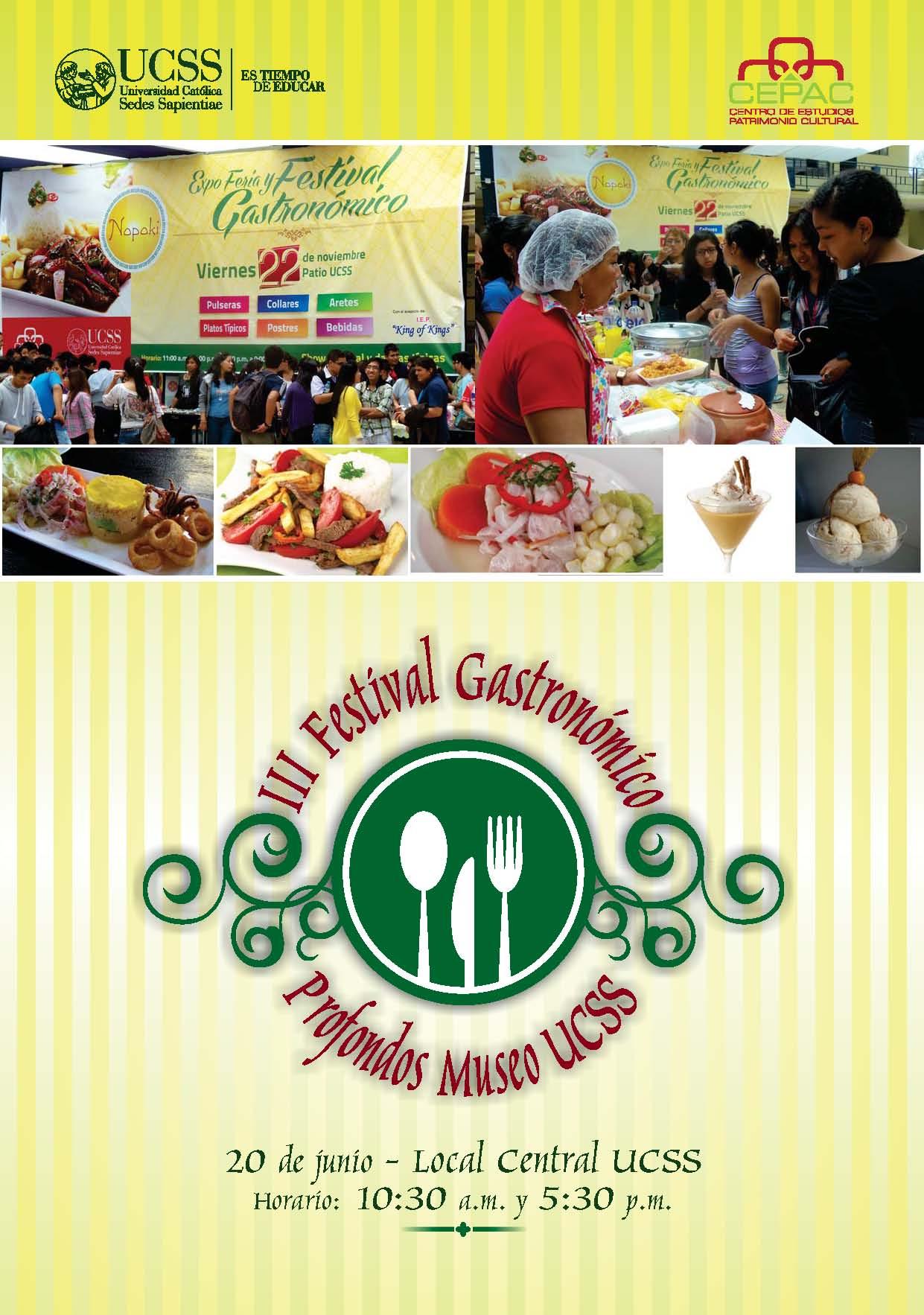 Afiche Festival Gastronómico 2014