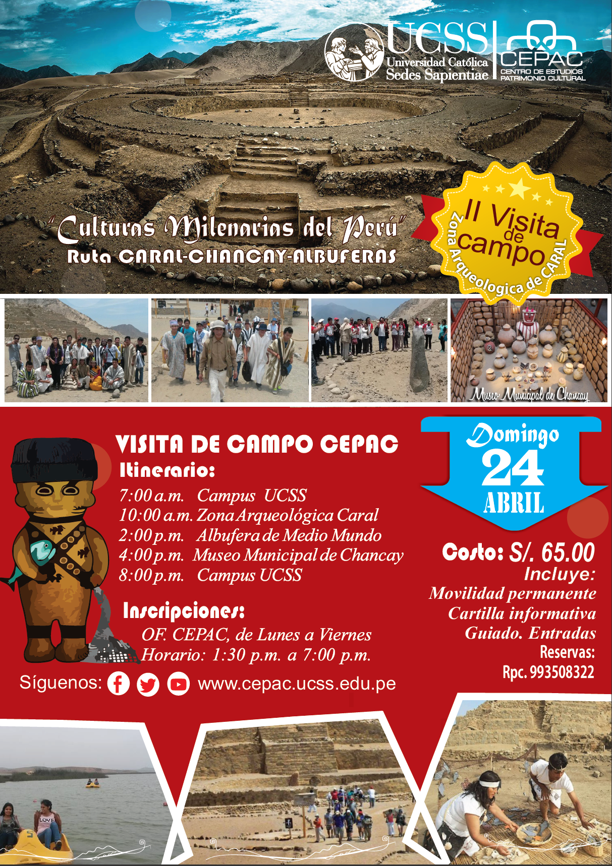 DOMINGO 24 ABR. RUTA CARAL-ALBUFERAS-CHANCAY