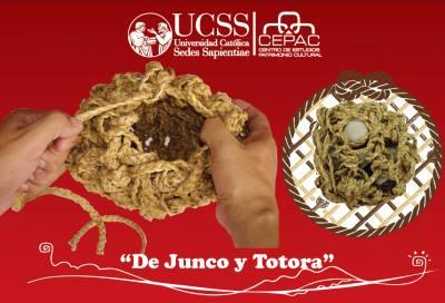 Tejido de cestería en fibra de Junco y Totora