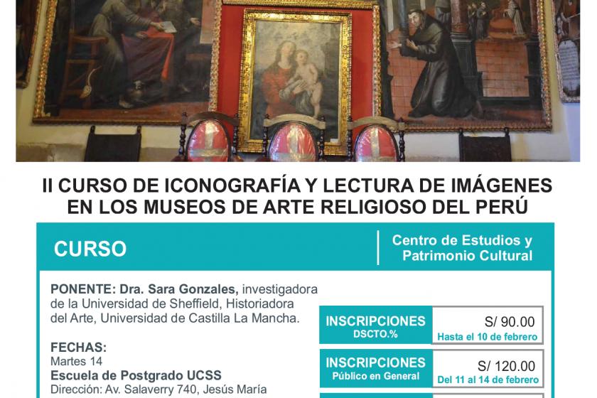 Curso de Iconografía y Lectura de imágenes en los Museos de Arte Religioso del Perú: 14 de febrero