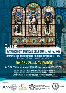 """CURSO: """"PATRIMONIO Y SANTIDAD DEL PERÚ (s. XVI – s. XXI): Interpretación del Patrimonio Religioso Inmaterial del Perú"""""""